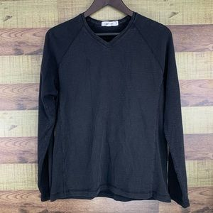 Calvin Klein mix weave LS shirt for men in black